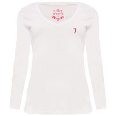 efe67a8e89 camiseta-aleatory-feminina-gola-v-manga-longa-basica- ...