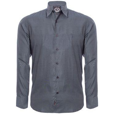 dee7ce0c5d Camisa Aleatory Slim Fit Manga Longa Blue Night