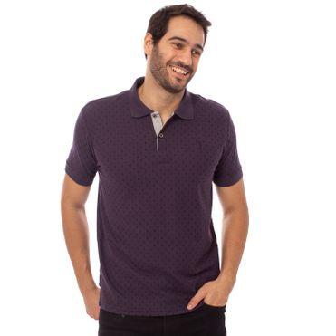 camisa-polo-aleatory-masculina-mini-print-path-modelo-1-