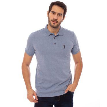 746d62dab ... camisa-polo-aleatory-masculina-lisa-gola-trancada-azul-