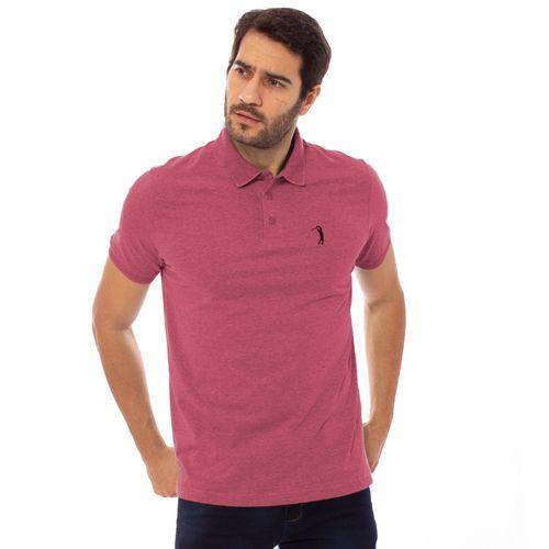 camisa-polo-aleatory-masculina-lisa-gola-trancada-rosa-mescla-modelo-1-