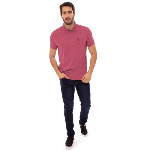 camisa-polo-aleatory-masculina-lisa-gola-trancada-rosa-mescla-modelo-3-