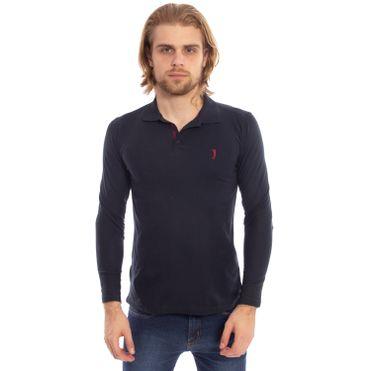 camisa-polo-aleatory-piquet-lisa-manga-longa-azul-modelo-1-