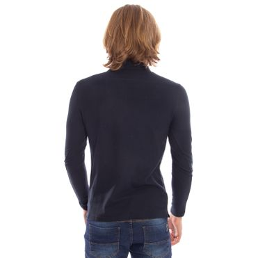 camisa-polo-aleatory-piquet-lisa-manga-longa-azul-modelo-2-