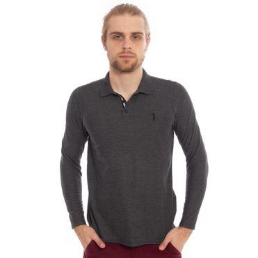 camisa-polo-aleatory-piquet-lisa-manga-longa-chumbo-modelo-1-