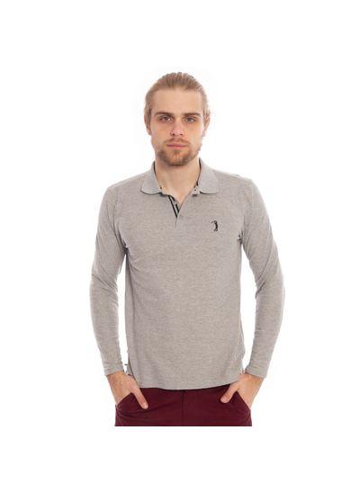 camisa-polo-aleatory-piquet-lisa-manga-longa-cinza-modelo-1-