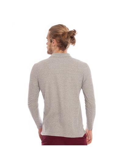 camisa-polo-aleatory-piquet-lisa-manga-longa-cinza-modelo-2-