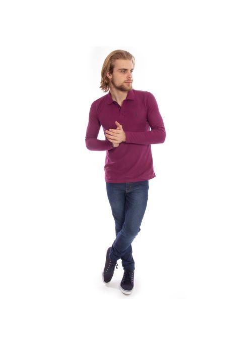 camisa-polo-aleatory-piquet-lisa-manga-longa-roxa-modelo-3-