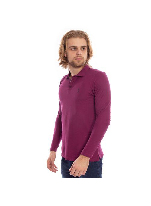 camisa-polo-aleatory-piquet-lisa-manga-longa-roxa-modelo-4-