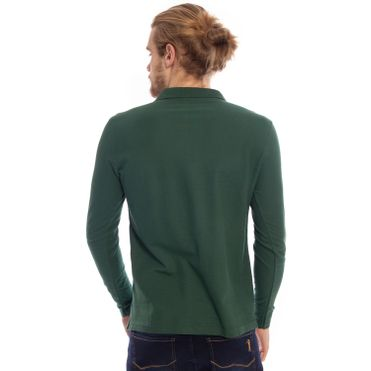 camisa-polo-aleatory-piquet-lisa-manga-longa-verde-modelo-2-
