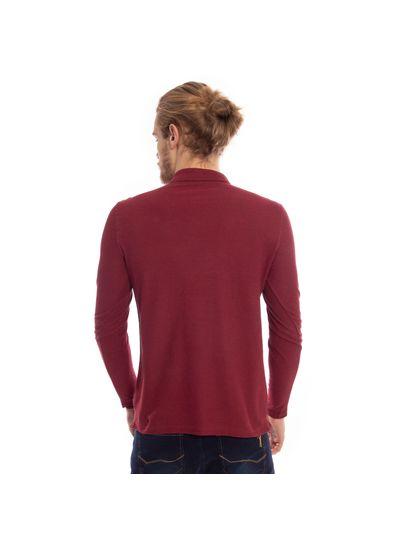 camisa-polo-aleatory-piquet-lisa-manga-longa-vinho-modelo-2-