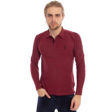 camisa-polo-aleatory-piquet-lisa-manga-longa-vinho-modelo-1-