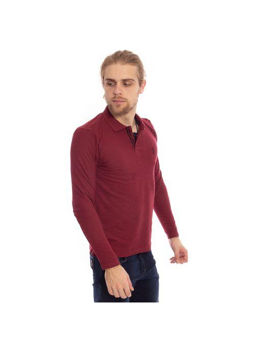 camisa-polo-aleatory-piquet-lisa-manga-longa-vinho-modelo-4-