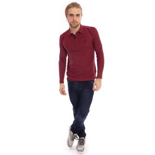 camisa-polo-aleatory-piquet-lisa-manga-longa-vinho-modelo-3-