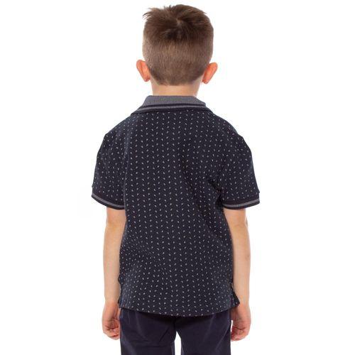 camisa-polo-aleatory-infantil-mini-print-aroow-azul-marinho-modelo-2-