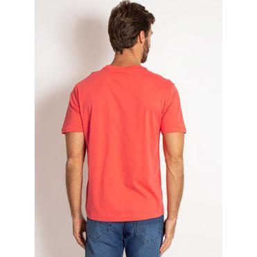 camiseta-aleatory-masculina-lisa-laranja-coral-modelo-2-