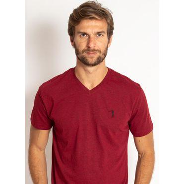 camiseta-aleatory-masculina-lisa-gola-v-mescla-vermelho-modelo-2019-1-