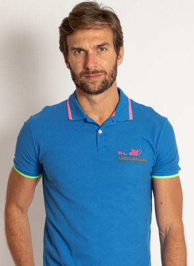 camisa-polo-aleatory-masculina-piquet-neon-azul-modelo-1-