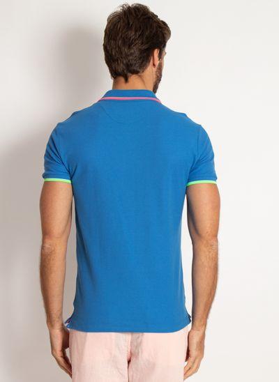 camisa-polo-aleatory-masculina-piquet-neon-azul-modelo-2-