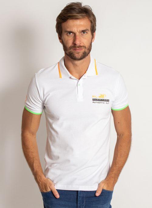 camisa-polo-aleatory-masculina-piquet-neon-branco-modelo-4-