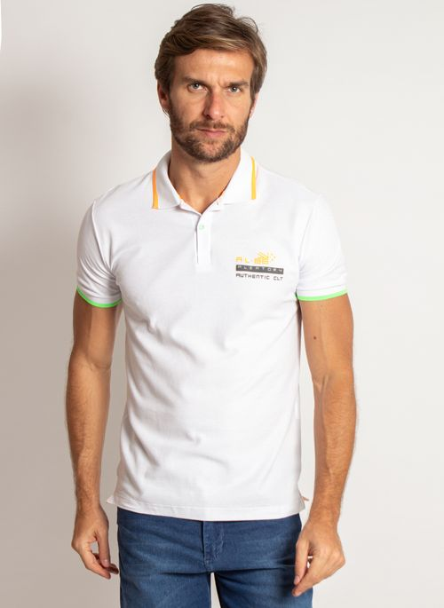 camisa-polo-aleatory-masculina-piquet-neon-branco-modelo-5-