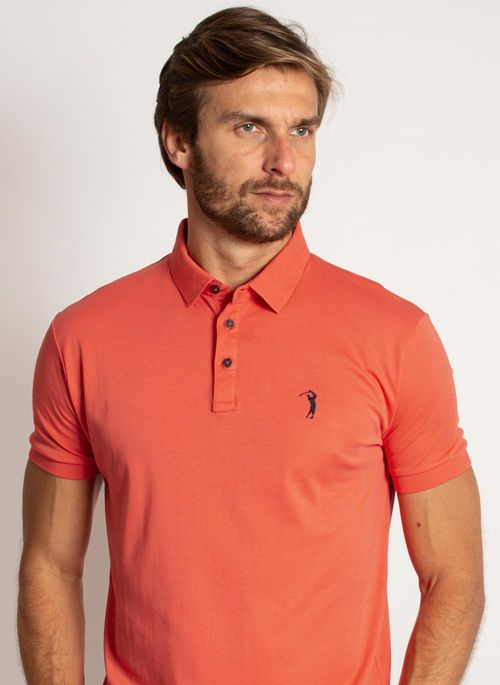 camisa-polo-aleatory-masculina-lisa-algodao-pima-laranja-modelo-1-