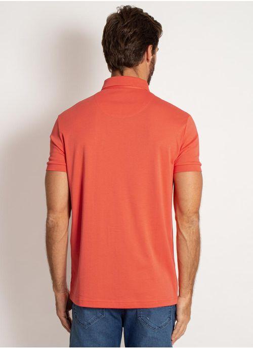 camisa-polo-aleatory-masculina-lisa-algodao-pima-laranja-modelo-2-