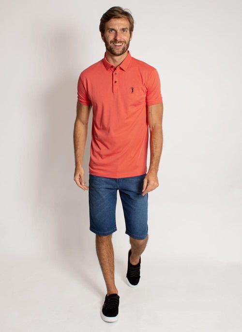 camisa-polo-aleatory-masculina-lisa-algodao-pima-laranja-modelo-3-