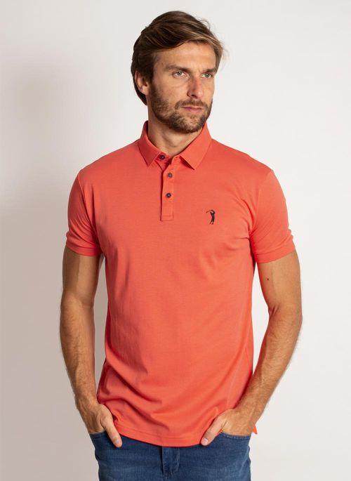 camisa-polo-aleatory-masculina-lisa-algodao-pima-laranja-modelo-5-
