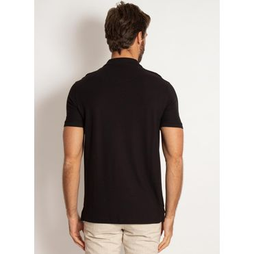 camisa-polo-aleatory-masculina-lisa-piquet-pima-preta-modelo-2-
