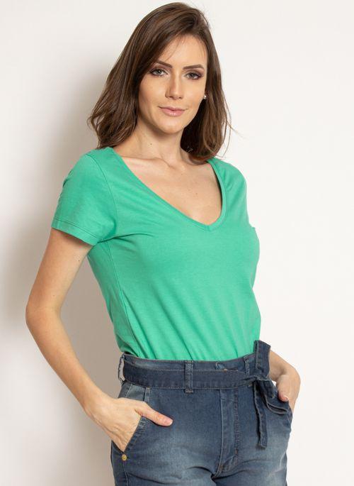 camiseta-aleatory-feminina-gola-v-basica-verde-modelo-2019-9-