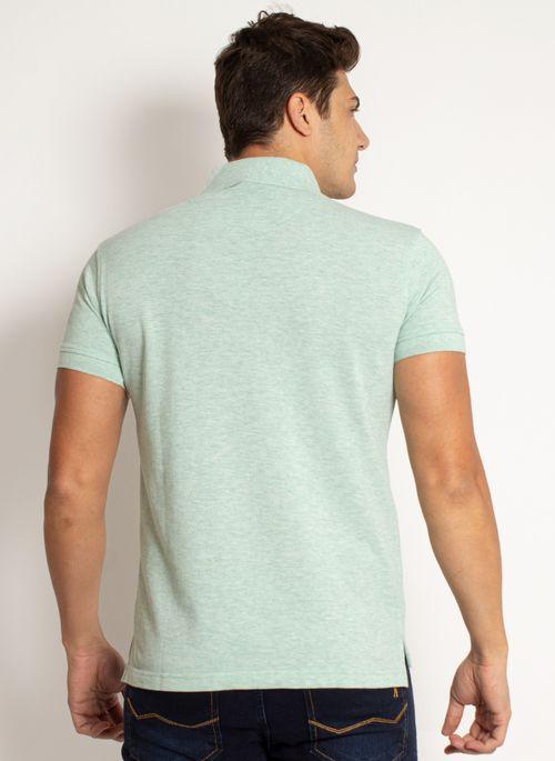 camisa-polo-aleatory-masculina-lisa-mescla-verde-modelo-2019-7-