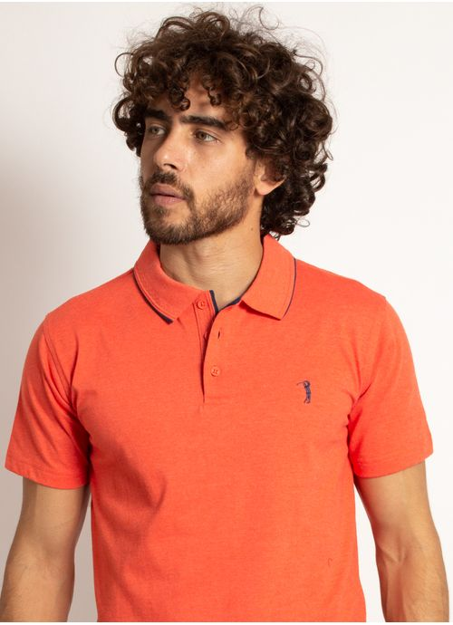 camisa-polo-aleatory-masculina-lisa-king-laranja-modelo-1-