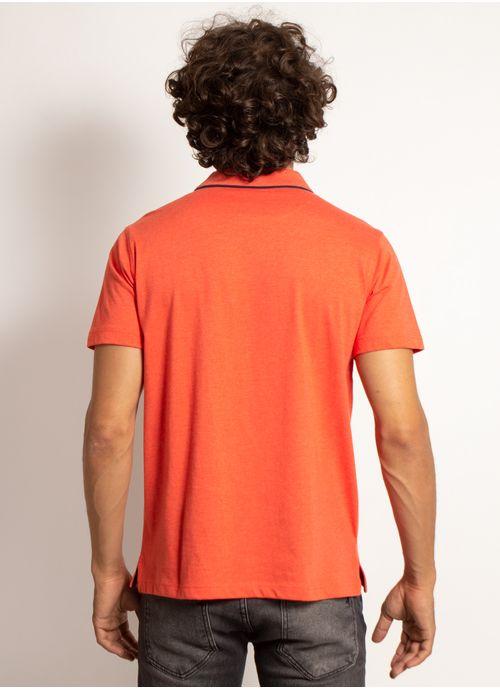 camisa-polo-aleatory-masculina-lisa-king-laranja-modelo-2-