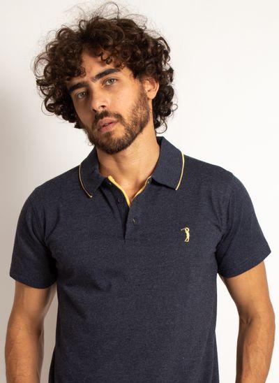 camisa-polo-aleatory-masculina-lisa-king-mescla-azul-marinho-modelo-1-