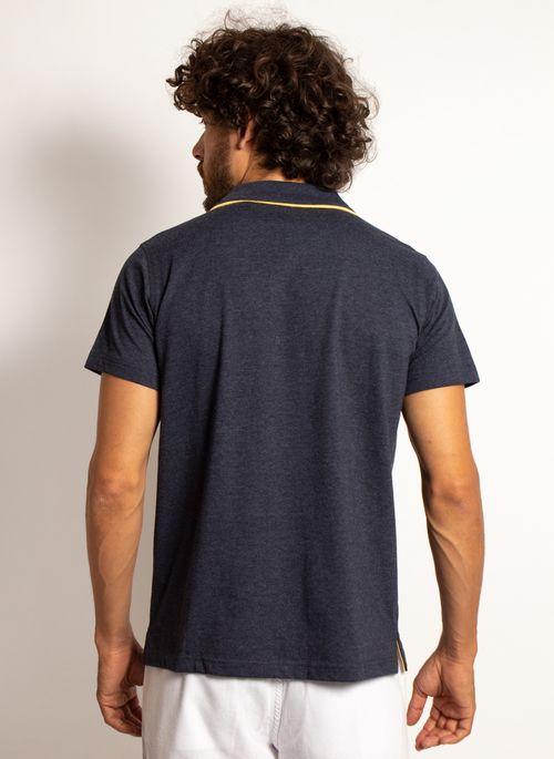 camisa-polo-aleatory-masculina-lisa-king-mescla-azul-marinho-modelo-2-