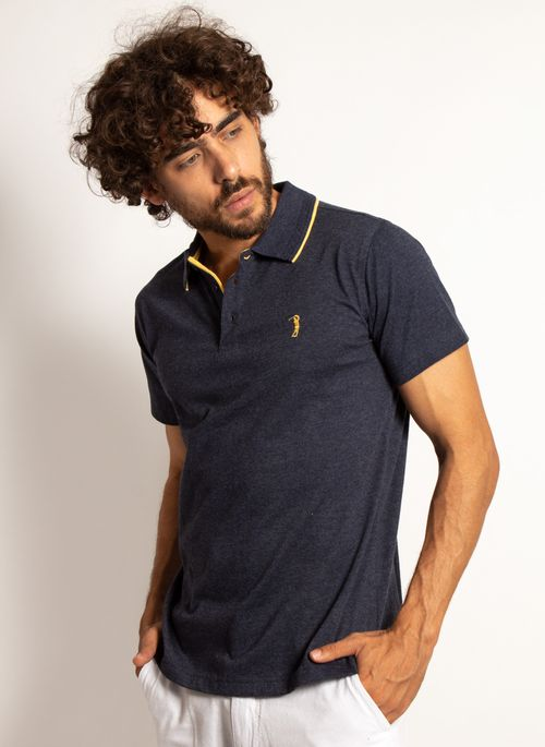 camisa-polo-aleatory-masculina-lisa-king-mescla-azul-marinho-modelo-4-