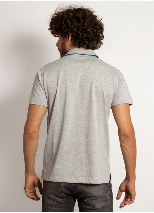 camisa-polo-aleatory-masculina-lisa-king-mescla-cinza-modelo-2-