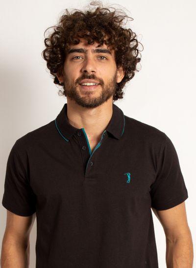 camisa-polo-aleatory-masculina-lisa-king-preta-modelo-1-
