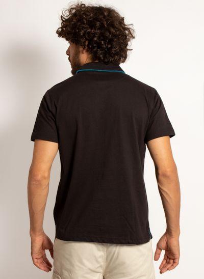 camisa-polo-aleatory-masculina-lisa-king-preta-modelo-2-