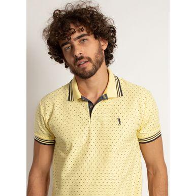 camisa-polo-aleatory-masculina-mini-print-square-amarelo-modelo-1-