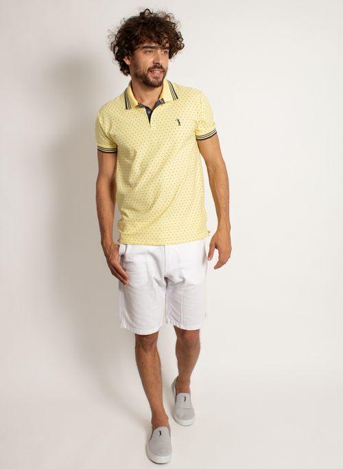 camisa-polo-aleatory-masculina-mini-print-square-amarelo-modelo-3-