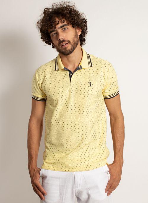 camisa-polo-aleatory-masculina-mini-print-square-amarelo-modelo-4-