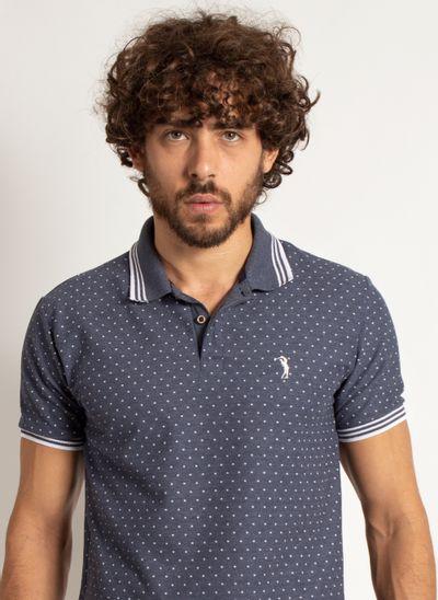 camisa-polo-aleatory-masculina-mini-print-square-azul-marinho-modelo-1-