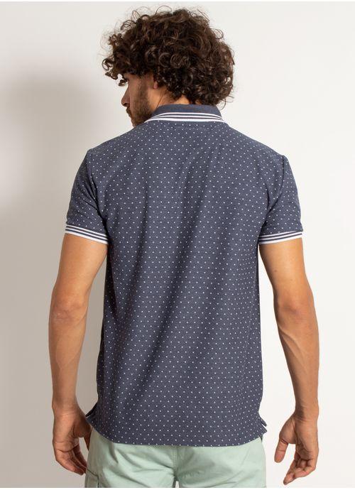 camisa-polo-aleatory-masculina-mini-print-square-azul-marinho-modelo-2-