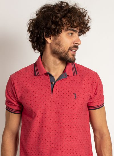 camisa-polo-aleatory-masculina-mini-print-square-vermelho-modelo-1-