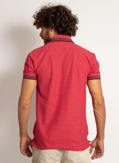 camisa-polo-aleatory-masculina-mini-print-square-vermelho-modelo-2-