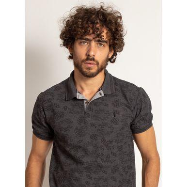 camisa-polo-aleatory-masculina-mini-print-mix-preta-modelo-1-