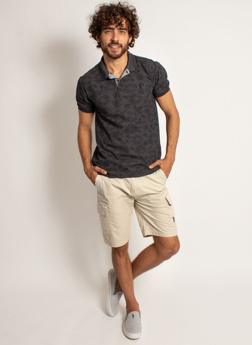 camisa-polo-aleatory-masculina-mini-print-mix-preta-modelo-3-
