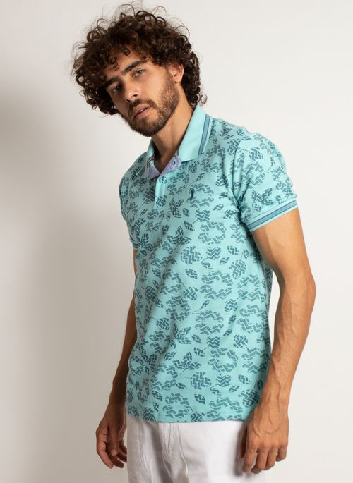 camisa-polo-aleatory-masculina-mini-print-mix-verde-modelo-4-
